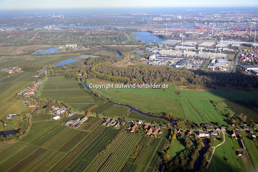 Alte Süderelbe Ostteil: EUROPA, DEUTSCHLAND, HAMBURG,  29.10.2019: Alte Süderelbe Ostteil