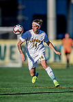 26 October 2019: University of Vermont Catamount Midfielder Frosti Brynjólfsson, a Freshman from Akureyri, Iceland, in second half action against the University of Massachusetts Lowell River Hawks at Virtue Field in Burlington, Vermont. The Catamounts rallied to defeat the River Hawks 2-1, propelling the Cats to the America East Division 1 conference playoffs. Mandatory Credit: Ed Wolfstein Photo *** RAW (NEF) Image File Available ***