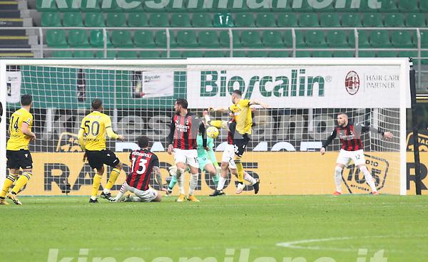 Milano 03-03-2021<br /> Stadio Giuseppe Meazza<br /> Serie A  Tim 2020/21<br /> Milan - Udinese<br /> nella foto: Udinese goal                                                        <br />  Antonio Saia