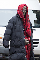 An actor in costume as Doctor Who films on Mount Stuart Square in Cardiff Bay, Wales, UK. Sunday 05 February 2017