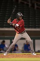 AZL Diamondbacks shortstop Geraldo Perdomo (12) at bat during an Arizona League game against the AZL Cubs 1 at Sloan Park on June 18, 2018 in Mesa, Arizona. AZL Diamondbacks defeated AZL Cubs 1 7-0. (Zachary Lucy/Four Seam Images)