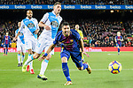 Luis Suarez of FC Barcelona (R) scoring a goal during the La Liga 2017-18 match between FC Barcelona and Deportivo La Coruna at Camp Nou Stadium on 17 December 2017 in Barcelona, Spain. Photo by Vicens Gimenez / Power Sport Images