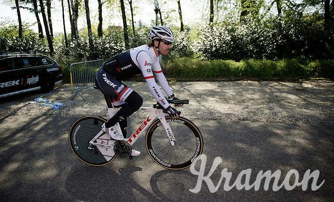 Fabian Cancellara (SUI/TREK-Segafredo) leaving the hotel for the first pre-Giro training ride with Team Trek-Segafredo in Gelderland (The Netherlands)<br /> <br /> 99th Giro d'Italia 2016