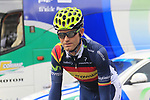 Spanish National Champion Jose Joaquin Rojas (ESP) Movistar Team at sign on before the start of the 98th edition of Liege-Bastogne-Liege outside the Palais des Princes-Eveques, running 257.5km from Liege to Ans, Belgium. 22nd April 2012.  <br /> (Photo by Eoin Clarke/NEWSFILE).
