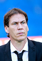 Calcio, Serie A: Roma vs ChievoVerona. Roma, stadio Olimpico, 18 ottobre 2014.<br /> Roma's coach Rudi Garcia waits for the start of the Italian Serie A football match between Roma and ChievoVerona at Rome's Olympic stadium, 18 October 2014.<br /> UPDATE IMAGES PRESS/Isabella Bonotto