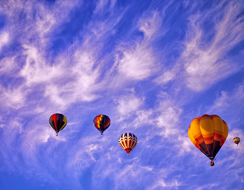 Hot air balloons taking off. Art and Air Festival. Albany Oregon