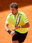Stan Wawrinka, Switzerland, during Madrid Open Tennis 2016 match.May, 4, 2016.(ALTERPHOTOS/Acero)