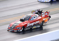 Sept. 15, 2012; Concord, NC, USA: NHRA funny car driver Cruz Pedregon during qualifying for the O'Reilly Auto Parts Nationals at zMax Dragway. Mandatory Credit: Mark J. Rebilas-