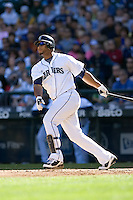 September 28, 2008: Wladimir Balentien of the Seattle Mariners at-bat during a game against the Oakland Athletics at Safeco Field in Seattle, Washington..