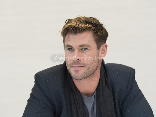 """Chris Hemsworth, who stars in 'Avengers: Endgame"""", at the InterContinental Hotel in Los Angeles. Credit: Magnus Sundholm/Action Press/MediaPunch ***FOR USA ONLY***"""