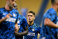 Lautaro Martinez of FC Internazionale looks on prior to the  Serie A football match between Parma and FC Internazionale at stadio Ennio Tardini in Parma ( Italy ), June 28th, 2020. Play resumes behind closed doors following the outbreak of the coronavirus disease. <br /> Photo Andrea Staccioli / Insidefoto