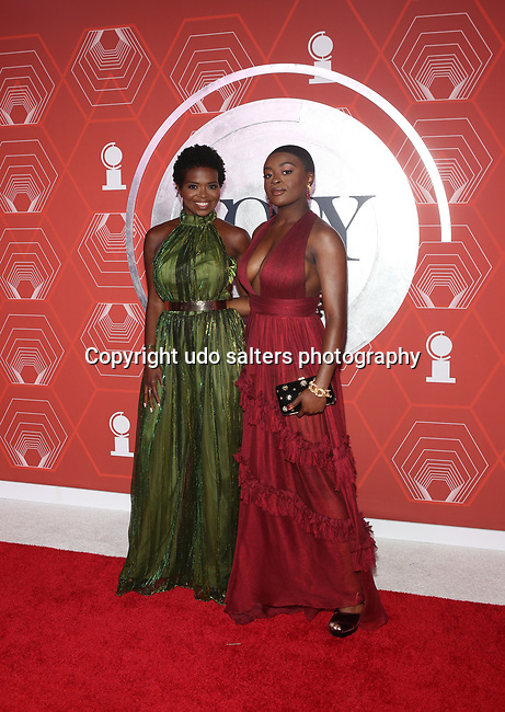 LaChanze and Celia Rose Gooding attend the 74th Tony Awards-Broadway's Back! arrivals at the Winter Garden Theatre in New York, NY, on September 26, 2021. (Photo by Udo Salters/Sipa USA)