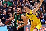 Liga ENDESA 2019/2020. Game: 14.<br /> Club Joventut Badalona vs FC Barcelona: 80-95.<br /> Albert Ventura vs Kyle Kuric.