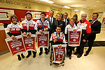 Ottawa, ON - March 28 2014- Ottawa's Sochi Paralympians with (all in back row): Member of Parliament David McGuinty, Ottawa City Councillor Diane Deans, Jim Toman – Branch Manager, CIBC South Keys Banking Centre, Karen O'Neill - CEO of the Canadian Paralympic Committee, Rick Baker - Board member of the Canadian Paralympic Committee, Dean Chapman – CIBC District Vice President, Ottawa District. (Photo: Patrick Doyle/CIBC)