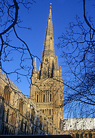 Norwich: Norwich Cathedral--Spire.