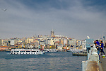 The Bosphorus River between Europe and Asia during Stage 7 of the 2015 Presidential Tour of Turkey running 124km from Istanbul to Istanbul. 3rd May 2015.<br /> Photo: Tour of Turkey/Steve Thomas/www.newsfile.ie