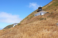The Punta Gorda Lighthouse on Northern California's Lost Coast overlooks the Pacific Ocean. Located near the town of Petrolia, California, the lighthouse was built in 1912 and decomissioned in 1951 when it was deemed that it was no longer needed. Photographed 07/08