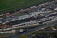 aerial photograph of the Port Terminal Railroad Rail Yard, Houston, Texas