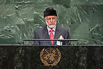 General Assembly Seventy-third session, 14th plenary meeting<br /> <br /> <br /> His Excellency Yousuf bin Alawi bin ABDALLAHMinister Responsible for Foreign Affairs of Oman