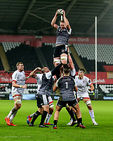 Saturday 15th February 2020 | Ospreys vs Ulster Rugby<br /> <br /> Bradley Davies in action during the PRO14 Round 11 clash between the Ospreys and Ulster Rugby at the Liberty Stadium, Swansea, Wales. Photo by John Dickson/DICKSONDIGITAL