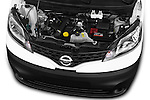 Car stock 2015 Nissan NV200 Visia 5 Door Cargo Van engine high angle detail view