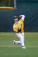 North Dakota State Bison left fielder Logan Busch (11) during warmups before a game against the Central Connecticut State Blue Devils on February 23, 2018 at North Charlotte Regional Park in Port Charlotte, Florida.  North Dakota State defeated Connecticut State 2-0.  (Mike Janes/Four Seam Images)