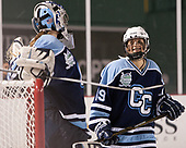 Katherine Chester (CC - 29), Jordan Cross (CC - 19) - The Babson College Polar Bears defeated the Connecticut College Camels 3-0 on Thursday, January 12, 2017, at Fenway Park in Boston, Massachusetts.