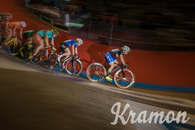 The women's race<br /> <br /> 2016 Gent 6<br /> day 5