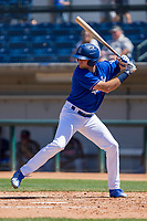 Rancho Cucamonga Quakes Cody Thomas (30) at bat against the Lake Elsinore Storm at LoanMart Field on April 22, 2018 in Rancho Cucamonga, California. The Storm defeated the Quakes 8-6.  (Donn Parris/Four Seam Images)
