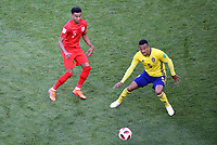 SAMARA - RUSIA, 07-07-2018: Martin OLSSON (Der) jugador de Suecia disputa el balón con Jesse LINGARD (Izq) jugador de Inglaterra durante partido de cuartos de final por la Copa Mundial de la FIFA Rusia 2018 jugado en el estadio Samara Arena en Samara, Rusia. / Martin OLSSON (R) player of Sweden fights the ball with Jesse LINGARD (L) player of England during match of quarter final for the FIFA World Cup Russia 2018 played at Samara Arena stadium in Samara, Russia. Photo: VizzorImage / Julian Medina / Cont