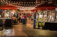 French Quarter, New Orleans, Louisiana.  Entrance to Frenchmen's Art Market, Night.