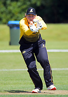 Jess McFadyen in action during the women's Hallyburton Johnstone Shield one-day cricket match between the Wellington Blaze and Central Hinds at Donnelly Park in Levin, New Zealand on Sunday, 6 December 2020. Photo: Dave Lintott / lintottphoto.co.nz