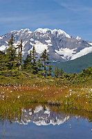 Mount Muir of the Chugach mountains, Chugach National Forest, Prince William Sound, Alaska.