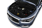 Car Stock 2016 Infiniti QX60 - 5 Door Suv Engine  high angle detail view