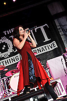 Flyleaf in concert at Pointfest 27 at Verizon Wireless Amphitheater in Maryland Heights, MO on Aug 14, 2010.