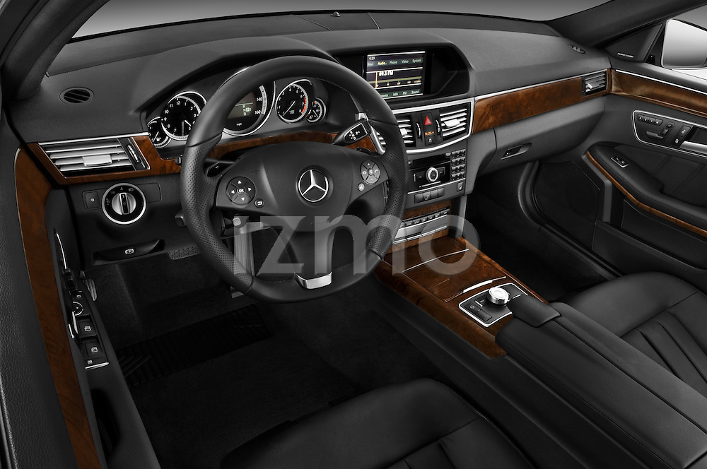 High angle dashboard view of a 2011 Mercedes E350 4Matic Wagon