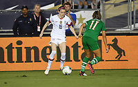 PASADENA, CALIFORNIA - August 03: Rose Lavelle #16, Katie McCabe #11 during their international friendly and the USWNT Victory Tour match between Ireland and the United States at the Rose Bowl on August 03, 2019 in Pasadena, CA.