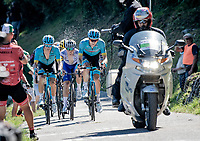 the race leaders up the infamous Muro di Sormano (avg 17%/max 25%) <br /> > Jakob Fuglsang (DEN/Astana), Aleksandr Vlasov (RUS/Astana) & Remco Evenepoel (BEL/Deceuninck-Quickstep)<br /> <br /> 114th Il Lombardia 2020 (1.UWT)<br /> 1 day race from Bergamo to Como (ITA/231km) <br /> <br /> ©kramon