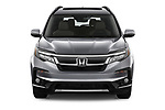 Car photography straight front view of a 2022 Honda Pilot Touring-2WD 5 Door suv Front View