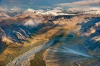 Aerial of the Sheenjek River, Brooks Range, Arctic National Wildlife Refuge, Alaska.