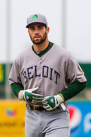 Beloit Snappers catcher Nick Collins (10) prior to a Midwest League game against the Wisconsin Timber Rattlers on April 10th, 2016 at Fox Cities Stadium in Appleton, Wisconsin.  Wisconsin defeated Beloit  4-2. (Brad Krause/Four Seam Images)