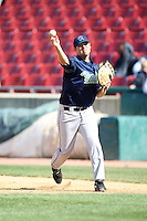 April 17 2010: Casey Haerther of the Cedar Rapids Kernels at Elfstrom Stadium in Geneva, IL. The Kernels are the Low A affiliate of the Los Angeles Angels. Photo by: Chris Proctor/Four Seam Images