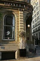 Montreal,  CANADA - File Photo -<br /> <br /> Place d'arme Hotel in Old- Montreal<br /> <br /> Photo :  Agence Quebec Presse - Pierre Roussel