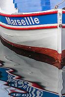 France, Bouches-du-Rhône (13), Marseille, capitale européenne de la culture 2013, Vieux Port, Pointu  // France, Bouches du Rhone, Marseille, european capital of culture 2013, Vieux Port (old harbour), pointu boat (traditional Mediterranean boat)