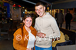 Enjoying the evening in the Brogue Inn on Friday, l to r: Emma Prenderville (Ballinorrig) and Brian McCarthy (Fenit).