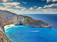 The famous Navagio (shipwreck) in Zakynthos island, Greece
