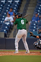 Daytona Tortugas Jonathan India (6) at bat during a Florida State League game against the Tampa Tarpons on May 17, 2019 at George M. Steinbrenner Field in Tampa, Florida.  Daytona defeated Tampa 8-6.  (Mike Janes/Four Seam Images)