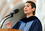 Commencement speaker Zainab Salbi, co-founder and CEO of Women for Women International, shares words of wisdonm at the commencement ceremony at Rice University Saturday mornging May 09,2009.(Dave Rossman/For the Chronicle)