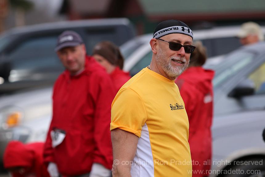 The 2014 Barnesville Park Rotary Lake 5K walk/run, Barnesville, Ohio March 29, 2014.