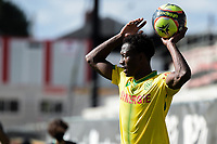 19th September  2021; Angers, Pays de la Loire, France; French League 1 football Angers versus Nantes;   Charles TRAORE of Nantes takes a throw-in